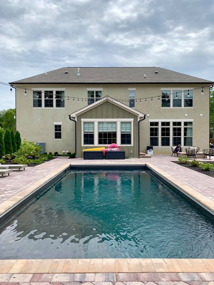 A pool at a home featured in Kitchen Kapers 2019.