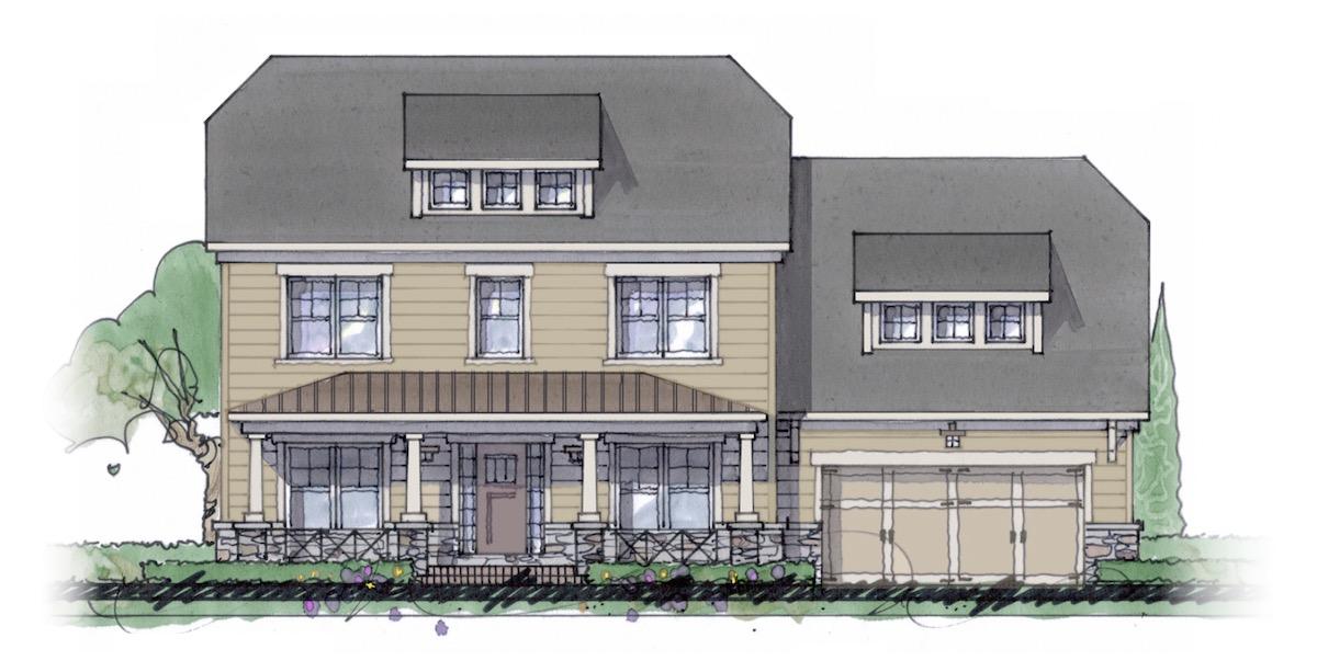 The Milton custom home floor plan - Elevation C.