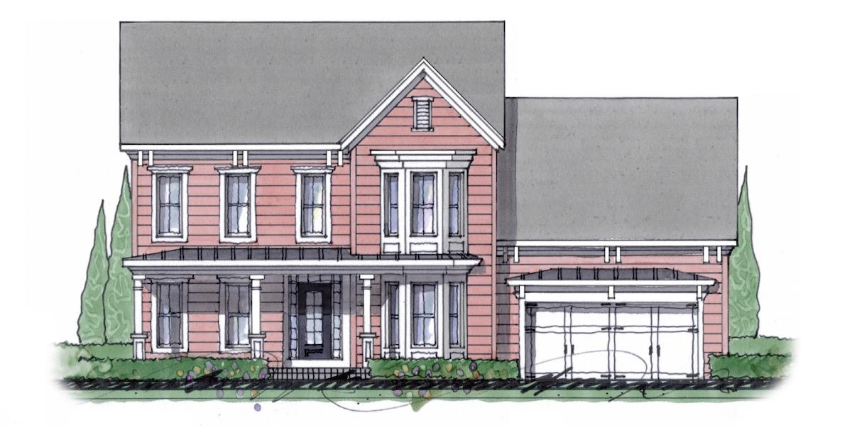The Milton custom home floor plan - Elevation D.