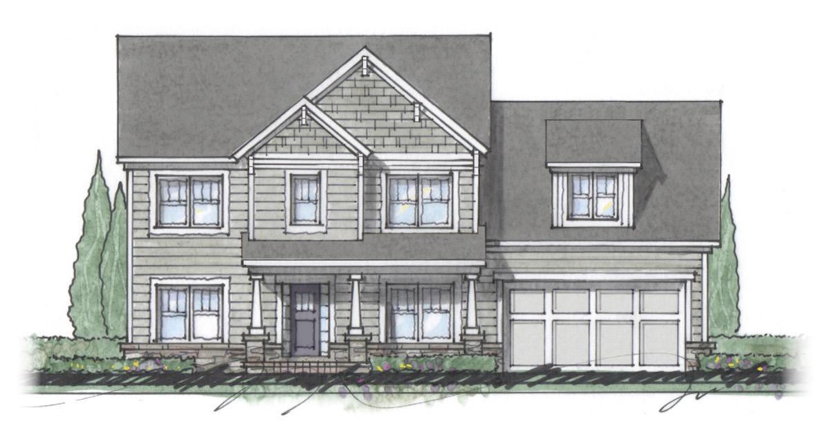 The Milton custom home floor plan - Elevation E.