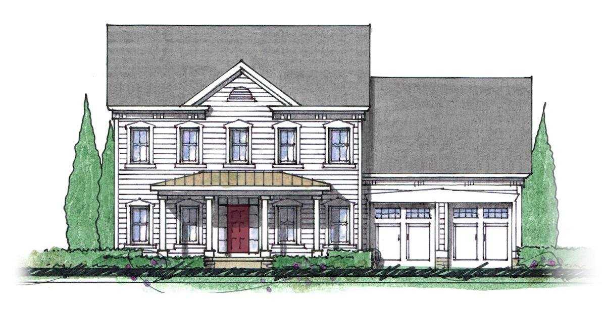 The Milton custom home floor plan - Elevation G.