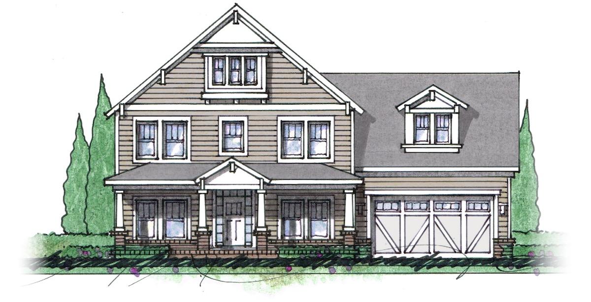 The Milton custom home floor plan - Elevation H.