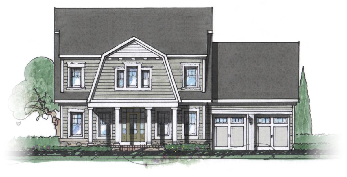 The Milton custom home floor plan - Elevation J.