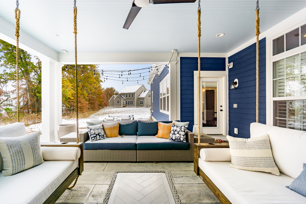 An example of outdoor living as an extension of your home, one of our emerging design trends.