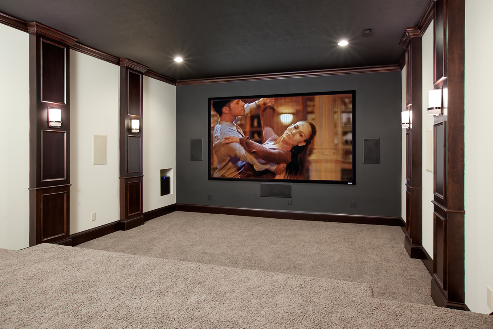 A bonus room idea that transforms space into a theater room.