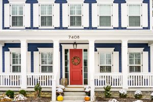 Front door colors like this red door.