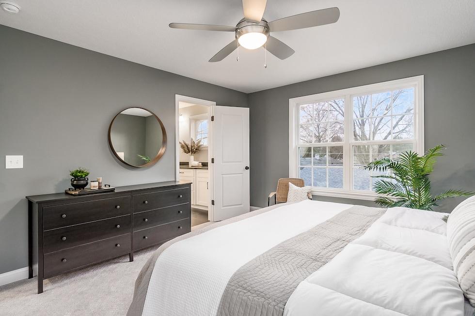 A cozy master bedroom.