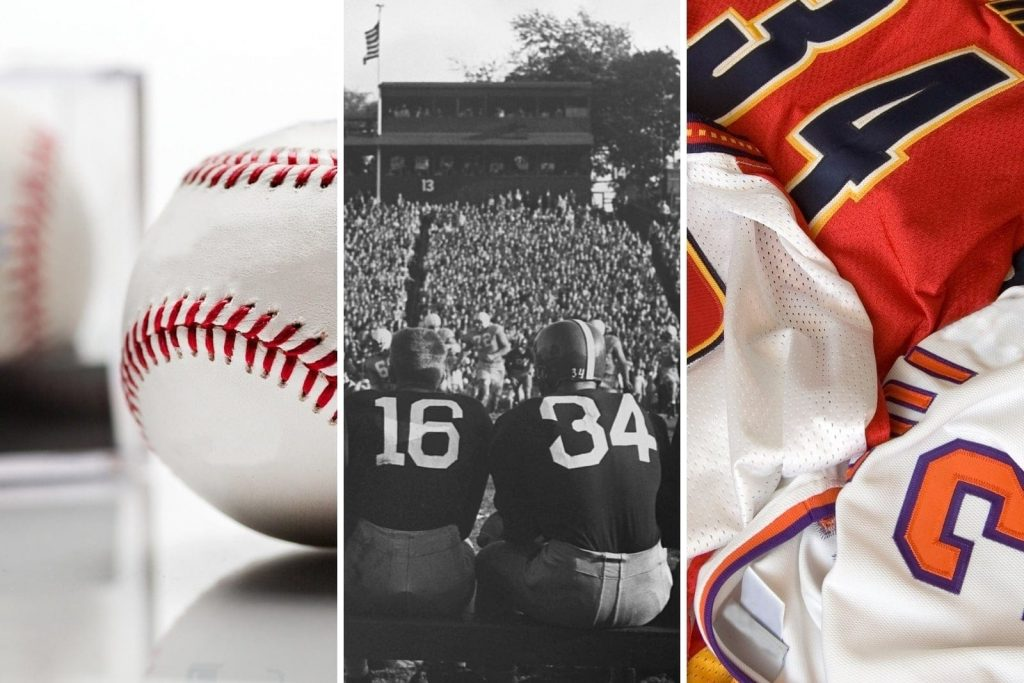 Examples of sports decor.